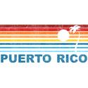 Retro Puerto Rico Palm Tree