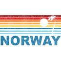 Retro Palm Tree Norway T-shirt