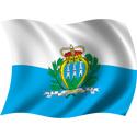 Wavy San Marino Flag