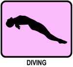 Womens Diving (pink)