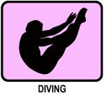 Mens Diving (pink)