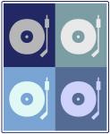 DJ (blue boxes)