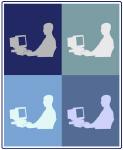 Computer Geek (blue boxes)