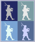 Bagpipes (blue boxes)