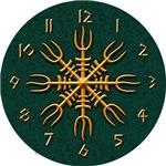 Aegishjalmur Clock