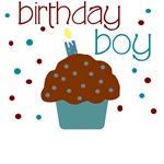Birthday boy cupcake