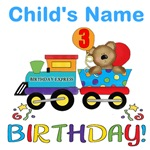 Birthday bear train