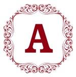 Monogram Florid Red