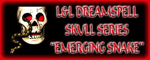 Skulls etc. - Skull with emerging snake