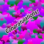 Congratulation Stars Purple