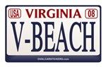 Virginia Plate V-BEACH