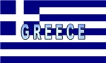 Greece Flag Labeled
