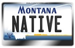 Montana License Plate - NATIVE