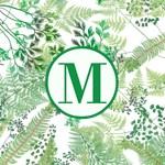 Elegant Greenery | Wild Ferns Monogram