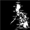 Retro Philippines Map