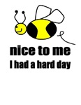 BE NICE TO ME ,I HAD A HARD DAY