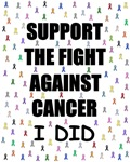 support the fight against cancer (ribbon look)