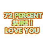 72% sure I love you