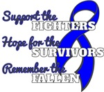 Colon Cancer Support Hope Remember Shirts