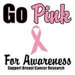Go Pink For Breast Cancer Awareness T-Shirts