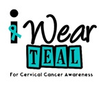 I Wear Teal For Cervical Cancer Awareness T-Shirts
