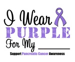 I Wear Purple Pancreatic Cancer Shirts (Grunge)