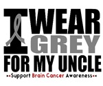 I Wear Grey (Uncle) Brain Cancer Shirts & Gifts