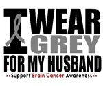 I Wear Grey (Husband) Brain Cancer Shirts & Gifts