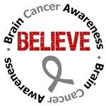 Brain Cancer Believe Shirts & Gifts