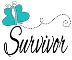 Ovarian Cancer Survivor Butterfly Tees & Gifts