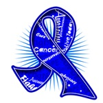 Colon Cancer Slogan Watermark Ribbon Shirts
