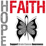 Brain Cancer Hope Faith Shirts