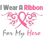 Breast Cancer I Wear Ribbon Hero (Tribal)