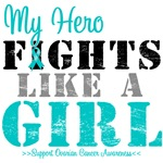 Ovarian Cancer Fight Like a Girl Support Shirts
