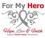 Brain Tumor For My Hero T-Shirts