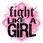Breast Cancer Rock Fight Like A Girl Shirts