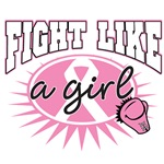 Breast Cancer Fight Like A Girl Callout Shirts