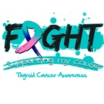 Fight Thyroid Cancer Cause Shirts