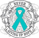 Ovarian Cancer NEVER GIVING UP HOPE Shirts