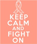 Endometrial Cancer Keep Calm Fight On Shirts