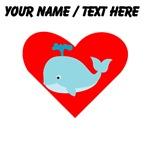 Custom Blue Whale Heart