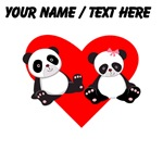 Custom Panda Boy And Girl Heart