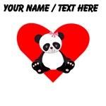 Custom Girl Panda Heart