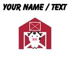Custom Cow And Barn