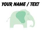 Custom Green Polka Dot Elephant