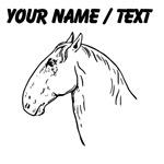 Custom Horse Head Drawing