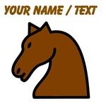 Custom Brown Horse Head