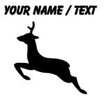 Custom Jumping Deer Silhouette