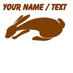 Custom Brown Rabbit Silhouette