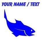 Custom Blue Trout Silhouette